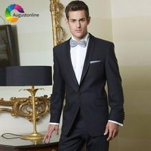 Shawl Lapel Men Suits For Wedding Black Evening Party Bridegroom Custom Slim Fit Formal Prom Groom Tuxedo Best Man Blazer 2Piece