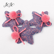JOJO BOWS 5pcs Plush Patches Stars Accessories For Needlework DIY Craft Supplies Parties Decoration Shoe Apparel Sewing Material