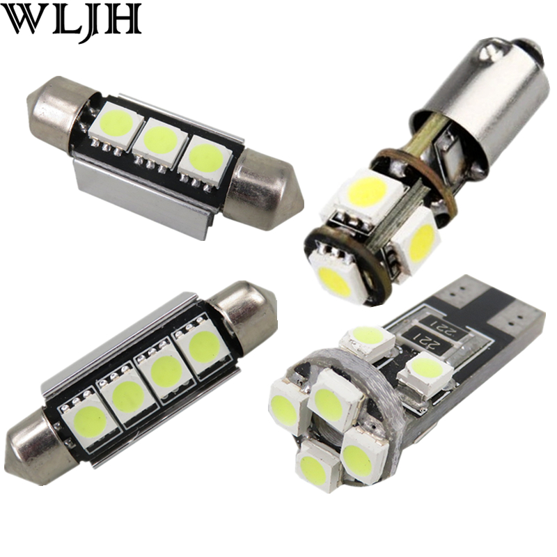 WLJH 18X White Error Free Interior Lighting Package for Audi A4 S4 RS4 B7 Canbus LED Interior Light kit 2005 2006 2007 2008 2009 18pc canbus error free reading led bulb interior dome light kit package for audi a7 s7 rs7 sportback 2012