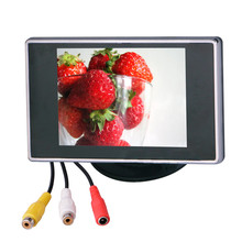 "Car Auto 3.5"" 2 Way AV Input TV Display TFT LCD Color Video Display Screen Monitor for Backup Rearview Camera"