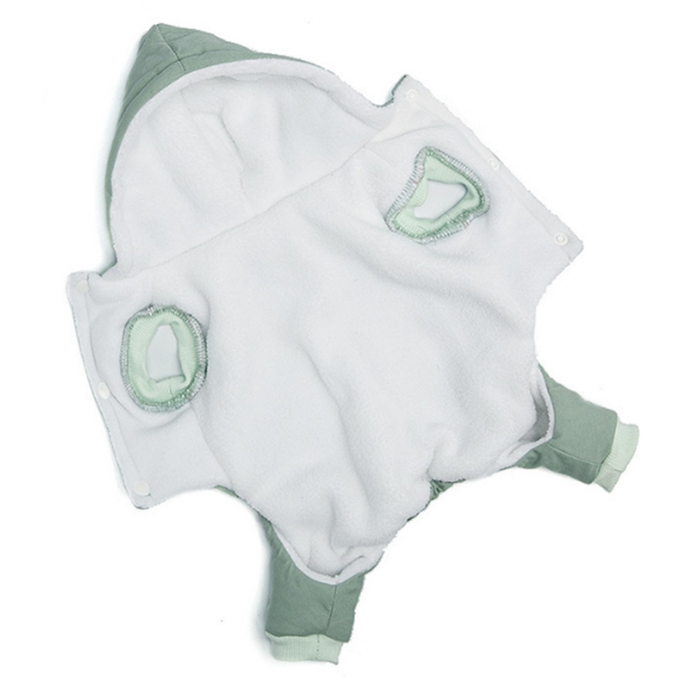 Soft and Warm Dog Clothes with Hoodie and Button Closure Design for Small and Medium Dogs 3