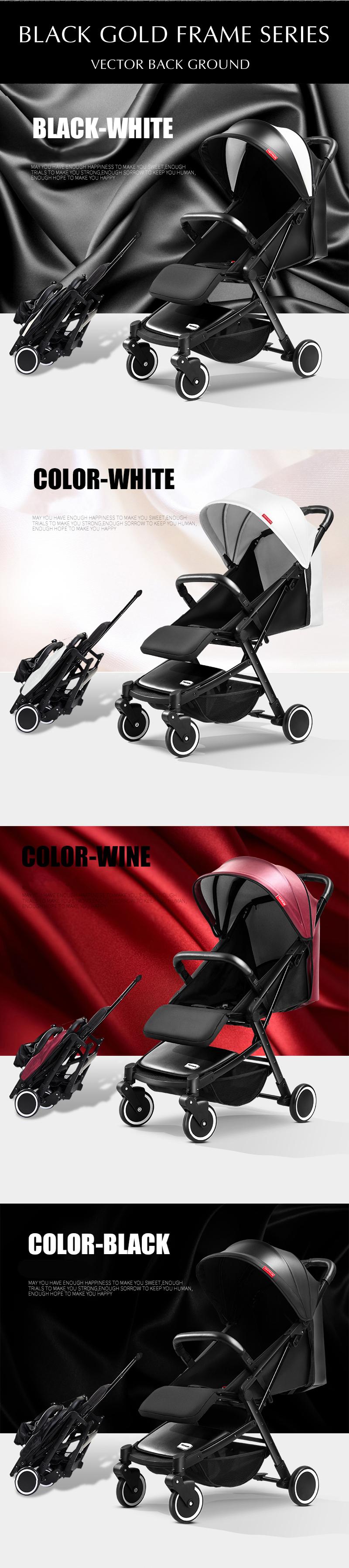 Teknum wózka dziecięcego ultralekki można jeździć może być leżącego przenośny parasol składany mini cztery okrągłe wózek dla dzieci 3