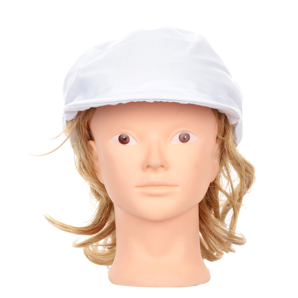 Fashion White Catering Hat Chef Bakers Bouffant Cap Food Hygiene Snood Cap Dust-proof Hat
