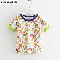 Summer 2017 Cartoon Chips Print T-shirt Boys Girls Children's Clothes Fashion Baby Short Sleeve Cotton Tops Tee Girl