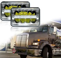 4X6 INCH Rectangular Sealed Beam LED Headlights For Truck Kenworth Peterbilt FREIGHTLINER Western Star Ford Mustang