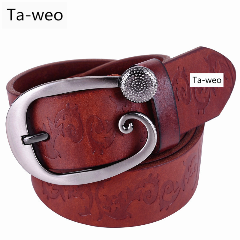 Fashion Casual Genuine Leather Belts For Women, Designer Ladies Cowhide Belt, Women Dress Wide Belts High Quality