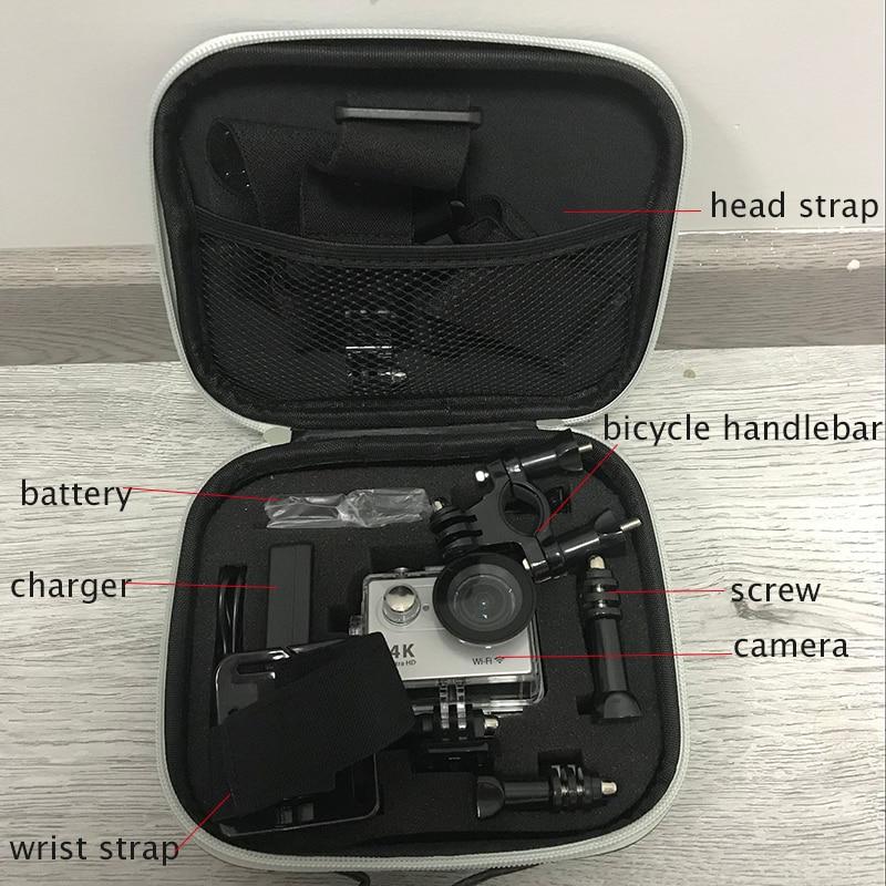 Tekcam accesorios para Gopro 5 5 5 6 6 7 caso de almacenamiento colección bolsa para ir Pro hero 5 hero 6 hero 5 4 3 + 3 2 xiaomi yi 4 k plus sjcam