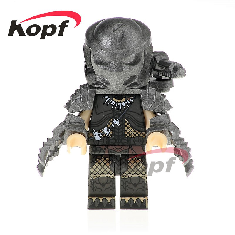 Single Sale Predator Figures Godzilla Skeleton Skull Alien The Movie Series Super Heroes Building Blocks Children Toys PG1127 airsoft adults cs field game skeleton warrior skull paintball mask
