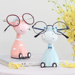 1pc Resin Animal Statue Giraffe Eyeglasses Stand Hippo Zebra Sheep Sunglasses Holder Figurine Home Decor Ornament Craft
