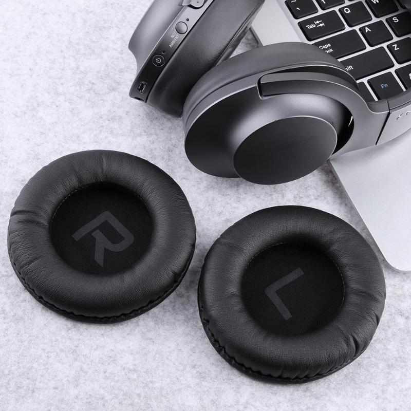 VODOOL 2pcs 100mm Black Ear Pads Cover Case Replacement Earpad Cushion Earmuffs for Superlux <font><b>HD660</b></font> HD330 Headphones Pads image