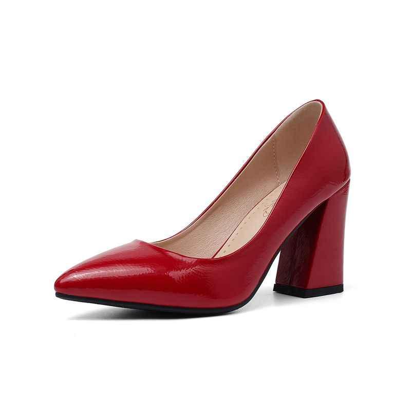 ASUMER 2019 בסיסי נשים משאבות הבוהן מחודדת פשוט אופנה באיכות גבוהה אביב קיץ גבירותיי נעלי עקבים גבוהים כלה נעלי חתונה