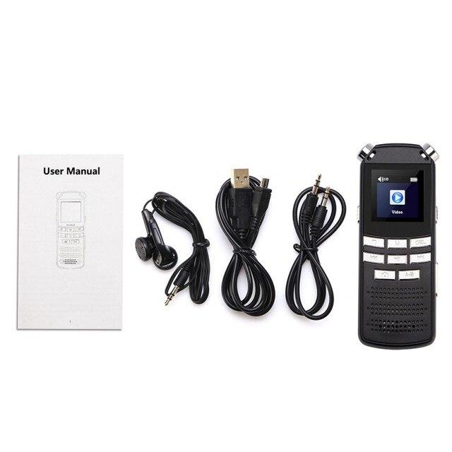 HD DVR Fotocamera Digitale Registratore Vocale USB MP3 Dittafono Digital Audio Voice Recorder DVR 720P Microfono