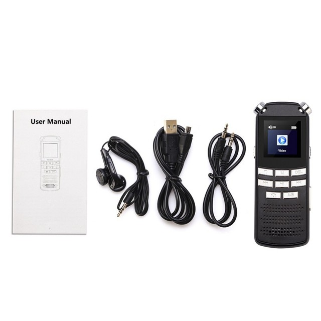 Hd dvr câmera digital gravador de voz usb mp3 ditaphone gravador de voz de áudio digital DVR 720P microfone