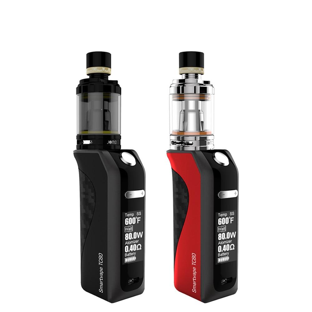 Smartvape TC80 Box mod with 2200mAh battery Refilling liquid Design Electronic Cigarette vape Vaporizer  Kit original lost vape therion dna75 75w tc box mod