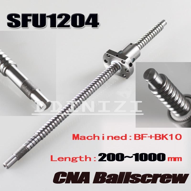 Freies verschiffen SFU1204 gerollt ball schraube C7 mit 1204 flansch einzigen ball mutter für BK/BF10 ende bearbeitet CNC teile RM1204