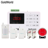 Wholesale Wireless GSM Alarm System 433MHz Home Burglar Security Alarm System Touch Keyboard