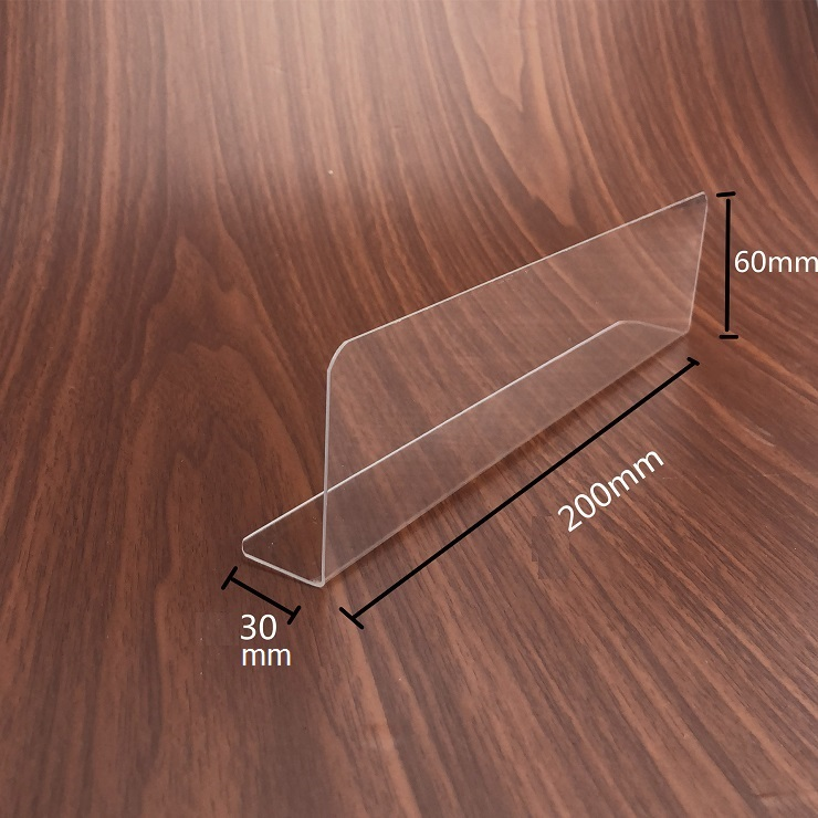 200pcs 200/250/300mm PVC L-shaped Commodities Separator Divider Merchandise Guard Strip Supermarket Display wen6506