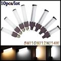 10pcs/lot E27/G24 8W/10W/12W/14W LED Spot Light White/Warm White AC85-265V LED Bulb Lamps Horizontal Plug Light
