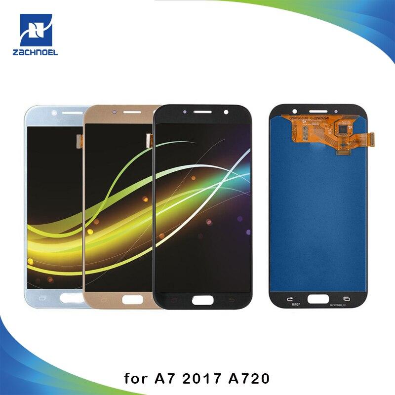 Super AMOLED Téléphones Affichage pour Samsung Galaxy A7 2017 A720 A720F A720M LCD Écran Tactile Digitizer Assemblée LCD de Remplacement