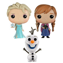 FUNKO POP Princess doll the Snow Queen Elsa Anna OLAF Vinyl Action Figure Collection Model Toys For Children Birthday gift(China)