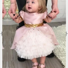 Newborn Baby Girl Dresses Pink Lace Princess Baptism Birthday Christening Gown for Infant Pageant Flower Girl Wedding Dresses