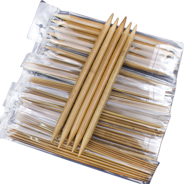 """75 шт. 7,9 """"см 20 см двойной острым Carbonized бамбуковой ручкой вязаный крючком крючки вязать ткань Вязание иглы Ремесло"""