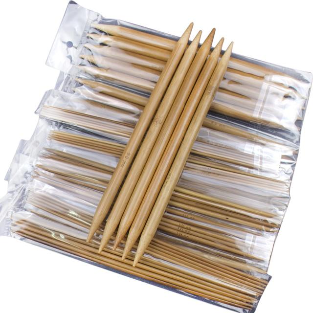 """75 шт 7,9 """"20 см Двухместный Указал карбонизированный Бамбук ручка крючки вязать ткань вязание Вязание инструмент для вышивки спицы для вязания"""