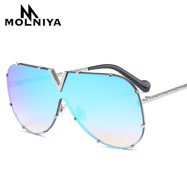 ed62dd3b9848 Sunglasses Pilot Women Brand Designer Men Luxury Mirror Sunglass V Oversize  Clear Female 2019 Sun Glass Eyeglass Female Flat Top