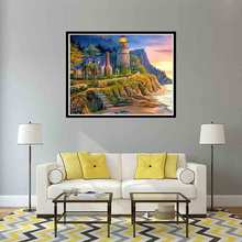 Diamond Painting Landscape Full Square / Round Embroidery 5D Diy Mosaic Seaside DecorationL760