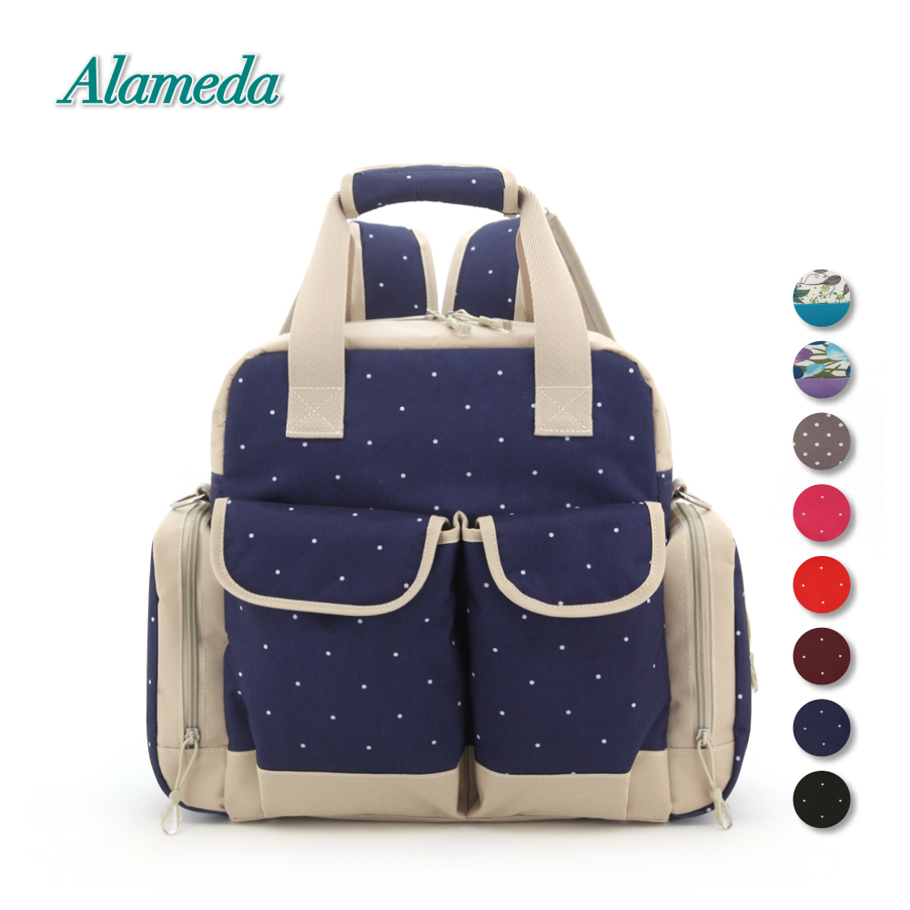 Alameda Diaper Bag Backpack Large Capacity Mummy Maternity Tote Bag with Baby Stroller Straps for Baby Care Travel Outdoors