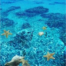 3D Wallpaper Stereo Sea starfish Flooring