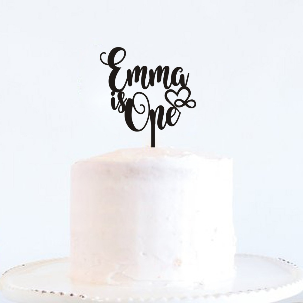 Custom Name Happy Birthday Cake Topper Personalized Gifts Childrens 1st First Year