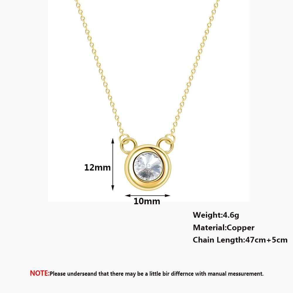 Chandler Mickey forme collier dessin animé Mini petit mignon cristal déclaration cadeaux d'anniversaire pour enfants enfants pendentif rond Chokers