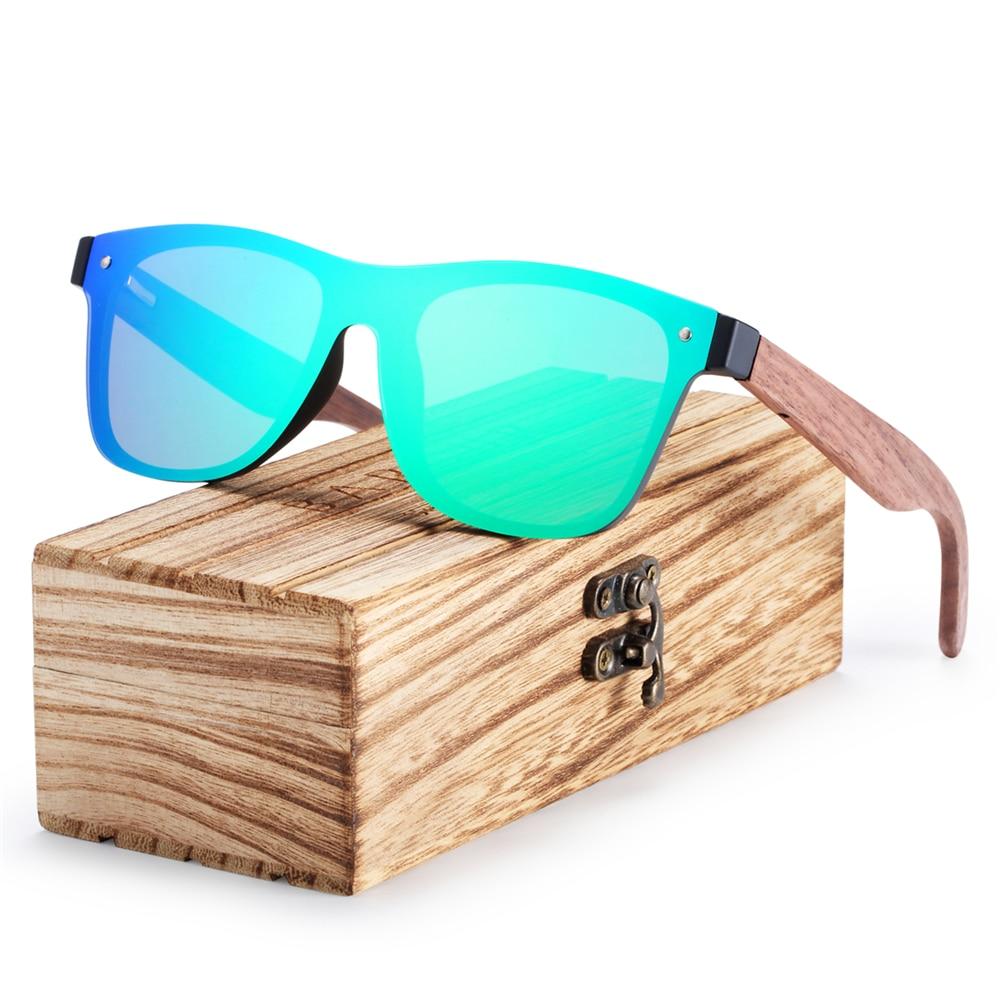 BARCUR Black Walnut Sunglasses Men Polarized UV400 Protection Sun Glasses Women Eyewear