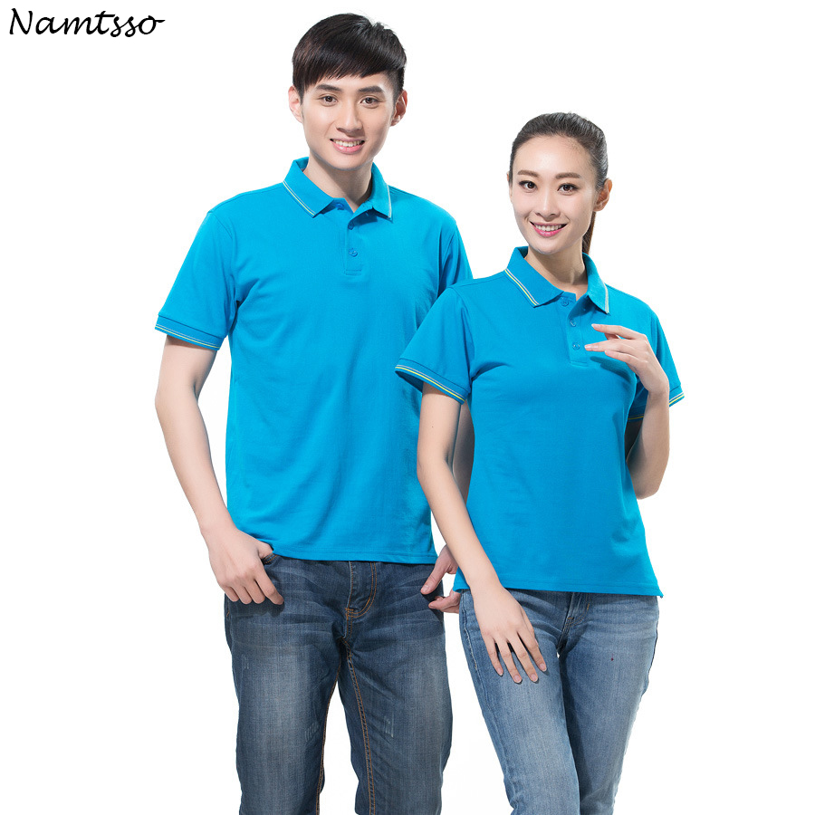 New Men   Polo   Shirt Business Casual solid color women Lycra Cotton Short Sleeve breathable   polo   shirt Brand base top Clothing