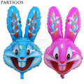 Wholesale 50pcs/ lot 43*83cm Bugs Rose Bunny foil Balloon for girl Birthday Party helium balloons rabbit shape balloon
