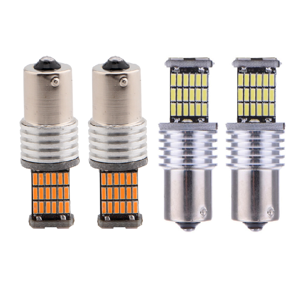 YSY 10pcslot 1156BA15S P21W canbus led 4014 45 SMD 45SMD Lights DRL car led turn signals Light 1157BAY15D 3156 3157 7440 7443