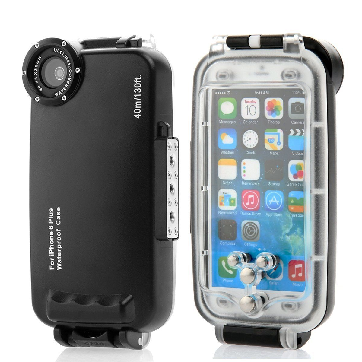 Meikon 40m 130ft Rated Dive Professional Submersible Waterproof Underwater Housing Diving Phone bag Case for iPhone 6 Plus 5.5″