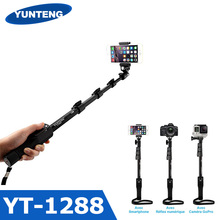 For Gopro DSLR Digital camera IOS Android Telephone Selfie Stick Yunteng 1288 Bluetooth Extendable Handheld Yt-1288 Tripod Monopod VS YT 188