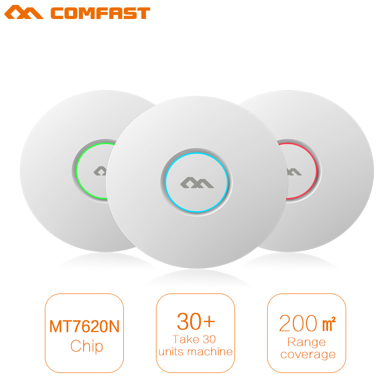 6pcs 300Mbps Wireless Access Point Ceiling AP POE WIFI Router WIFI Repeater Extender booster with RJ45 for hotel WI FI coverage cross cross at0652 4