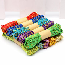 10 meter Gold side Chinese Knot Cord Rattail Satin Braided String Jewelry Findings Beads Rope Handmade DIY wire