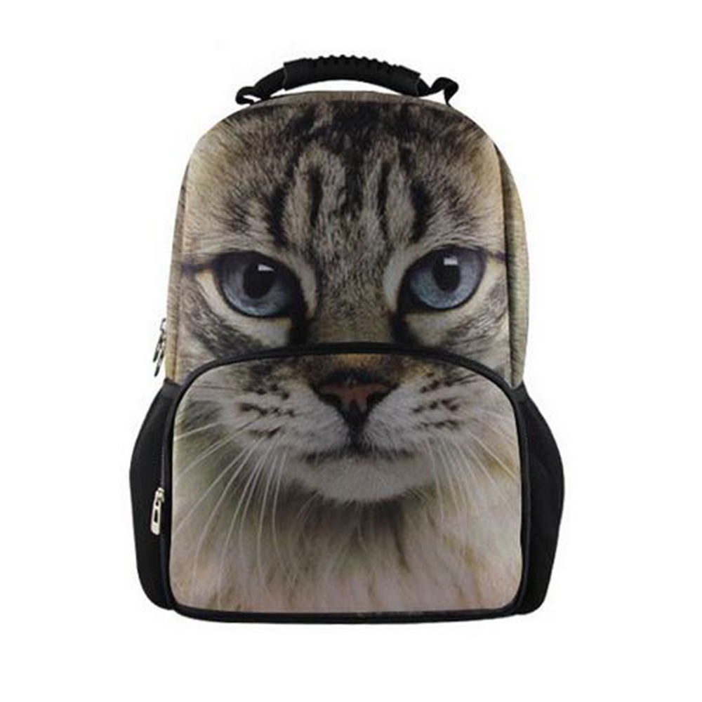 Fashion Children 3D Animal Cat School Bags Cute Zebra Panda School Bag for Girls Women Schoolbag Casual Bookbag Mochila Feminina children school bag minecraft cartoon backpack pupils printing school bags hot game backpacks for boys and girls mochila escolar
