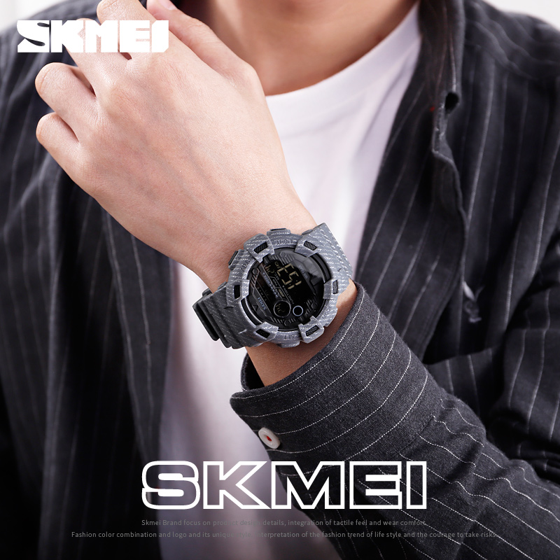 Новые часы Мужские Цифровые Спортивные мужские наручные часы reloj hombre Two Time Chrono будильник часы модные мужские часы Топ бренд SKMEI - 4
