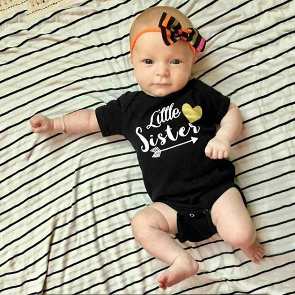 Lovely Newborn Toddler Infant Baby Black Letter Jumpsuit Romper Clothes Handsome