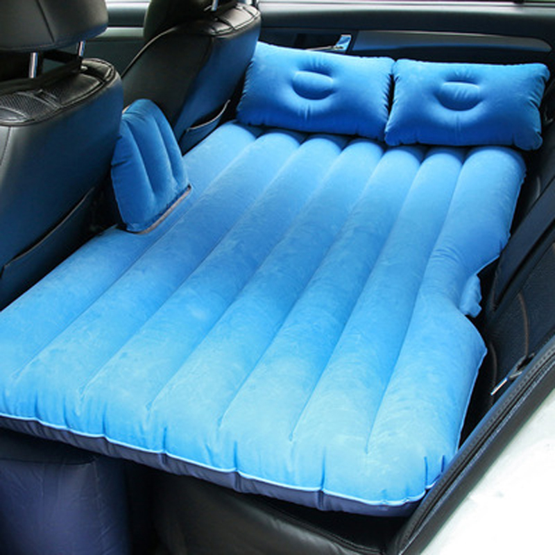Car Inflatable mattress Car shock bed on-board flocking inflatable bed separate type air cushion bed car split car bed outdoor camping car back seat cover air mattress travel mat bed inflatable mattress air inflatable car bed with inflatable pump