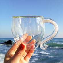 Exquisite Sparkling Double-Walled Glass Coffee Mug