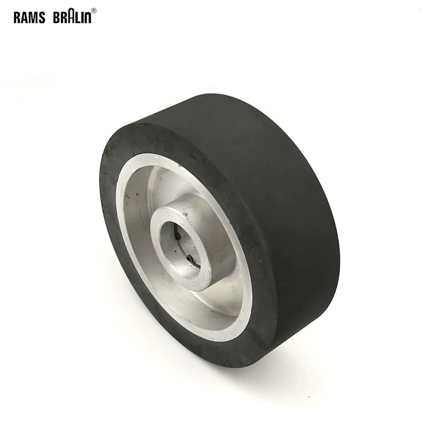 150*50mm Flat Surface Rubber Contact Wheel Belt Grinder Wheel Abrasive Belt Set
