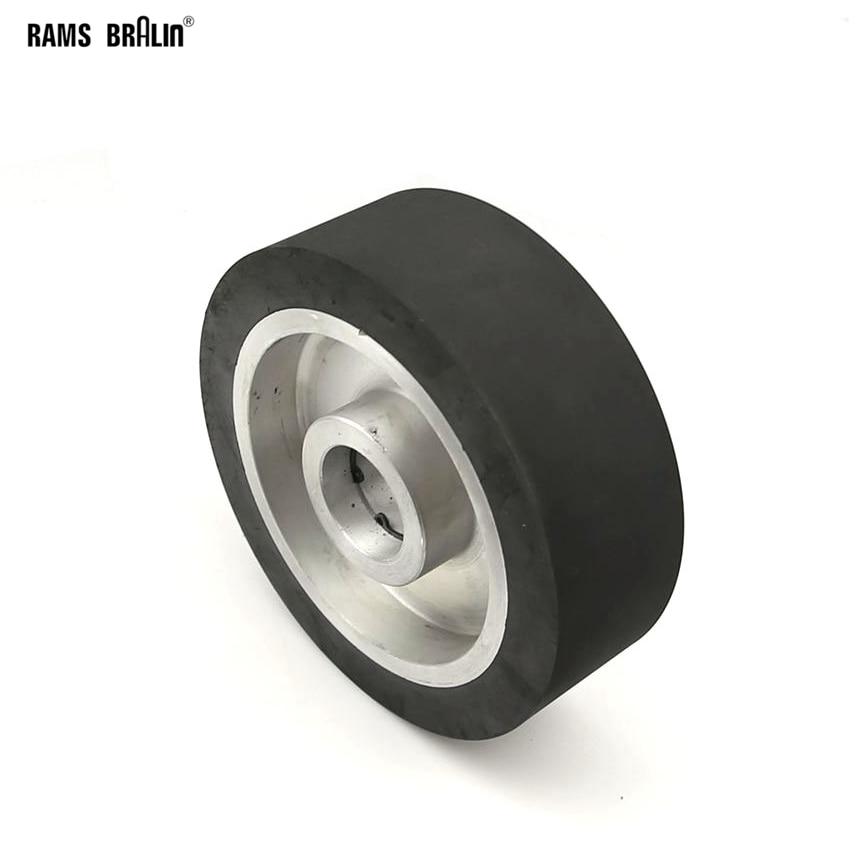 150*50mm Flat Surface Rubber Contact Wheel Belt Grinder Wheel Abrasive Belt Set