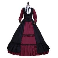Sukienka Suknia Balowa Steampunk Victorian Gothic Vampire Halloween Czarownica Kostium Odzież Teatr
