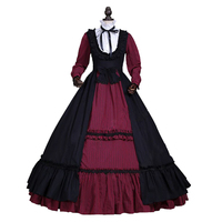 Victorian Gothic Dress Ball Gown Steampunk Witch Vampire Halloween Costume Theatre Clothing